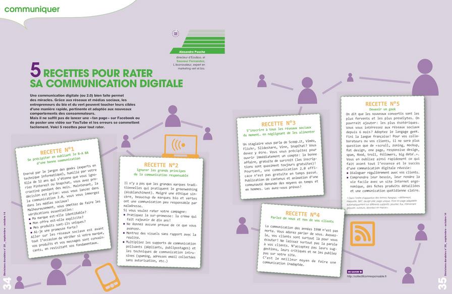 5 recettes pour rater sa communication digitale par Alexandre Pasche - Eco&co