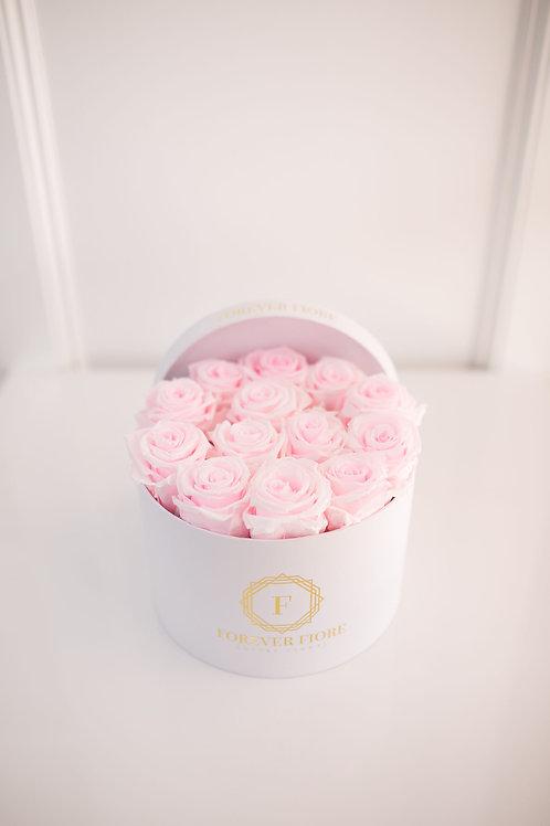 Mia White Box Red Roses