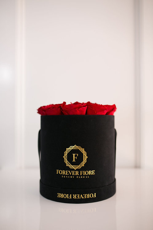 Francesca Black Box with Red Roses