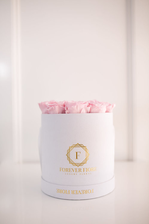 Francesca White Box with Pink Roses