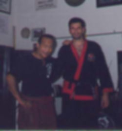 Maestro Andres Esquivel junto al Guru DAN INOSANTO