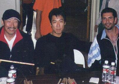 """Maestro Andres Esquivel junto a los maestros PHILLIPE RHEE Y CHUL JIM KIM de la pelicula """"the BEST of the BEST 1 Y 2"""""""