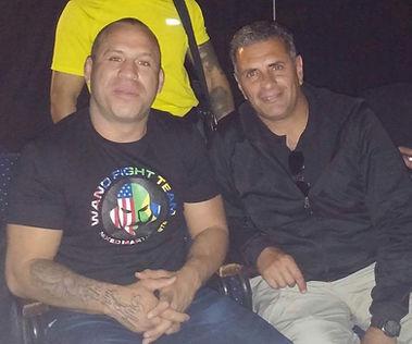 Maestro Andres Esquivel junto al Campeon WANDERLEI SILVA