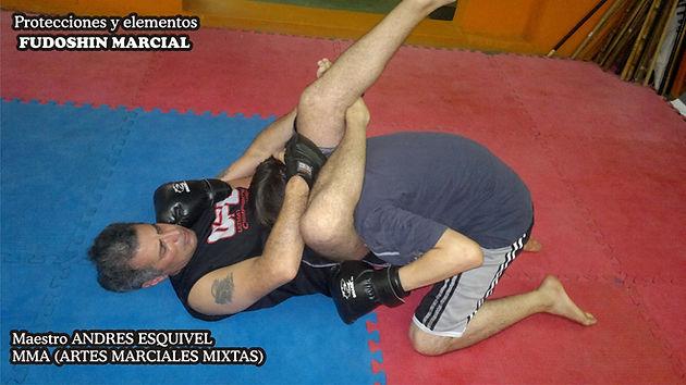 Maestro Andres Esquivel entrenando MMA.