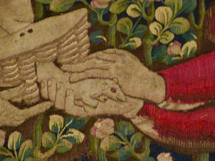 Hunting Embroidered Rabbits