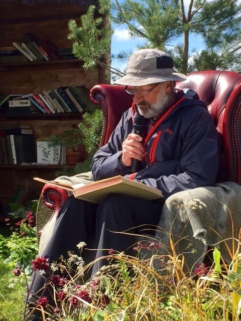 Guest reader at garden show