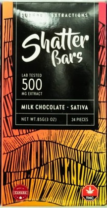 Shatter Bars - Milk Chocolate - Sativa 500mg