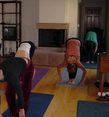 Carolyn Costin yoga class