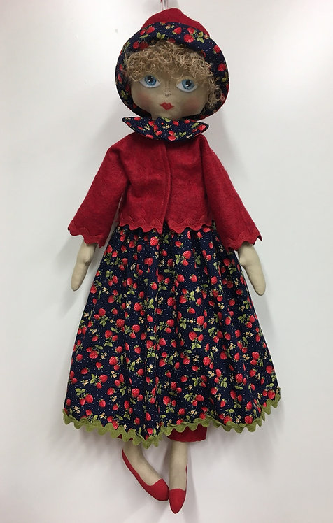 Marjorie doll pattern with hair.