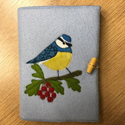 Blue Tit notebook cover kit.