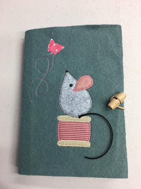 Mouse on a bobbin notebook kit.