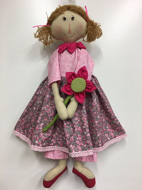 Petal doll pattern with hair
