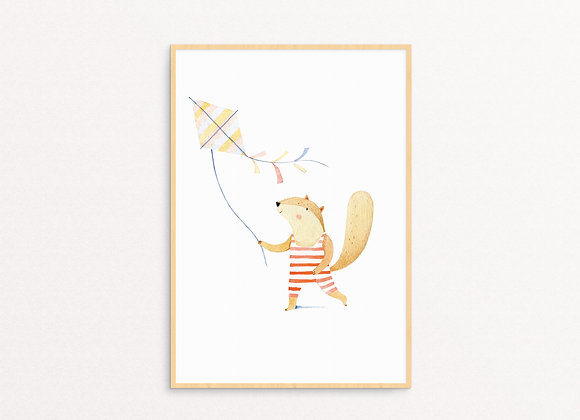 A Squirrel & A Kite