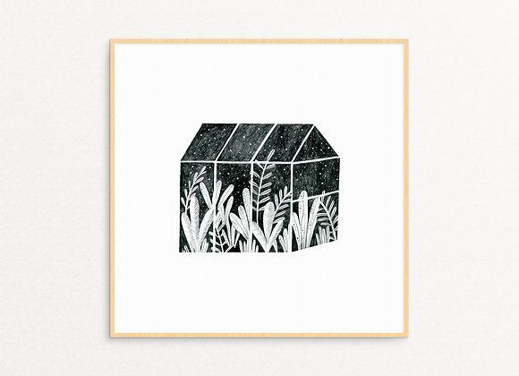 Black & White Greenhouse