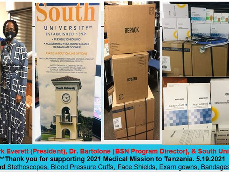 Thank You Our Corporate Sponsor For 2021 Medical Mission to Tanzania
