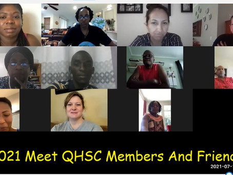 QHSC Updates for August and September Events