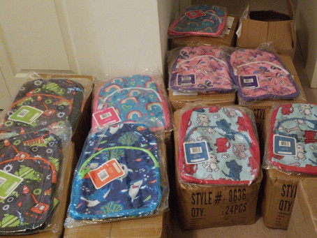 Update: 1st Grade Backpack Drive Campaign.