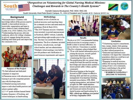 Global Nursing Volunteering Poster Presentation at Florida Nursing Association. QHSC Perspectives.