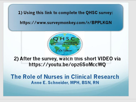 Team QHSC is inviting you to provide your opinion.