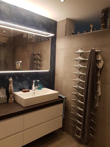 Badezimmer - Instinto Kalkputz blau