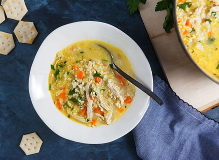 Chicken Cauliflower Rice Soup