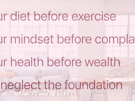 Never Neglect the Foundation