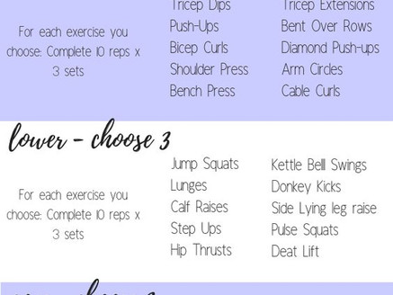 Create your Own Workout