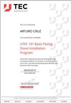 Art Unilock Basic Paving Certification