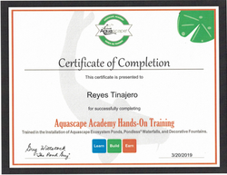 Rey's Certification AquaScape