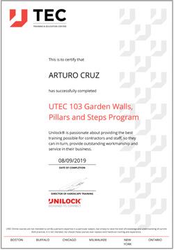 Art Unilock Garden Wall Pillars and Step