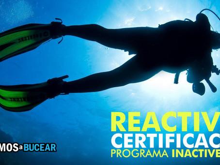 Actualización de buceo | Reactivar certificación