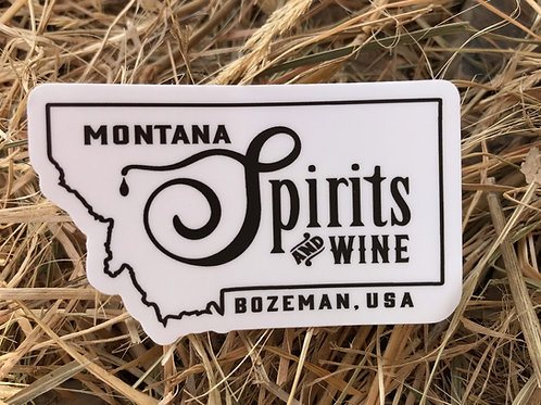 Montana Spirits & Wine Logo Sticker