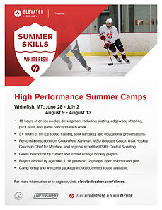Elevated Hockey HP Summer Camp Whitefish