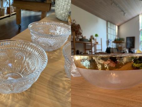 暑い夏にぴったりなガラスの器。