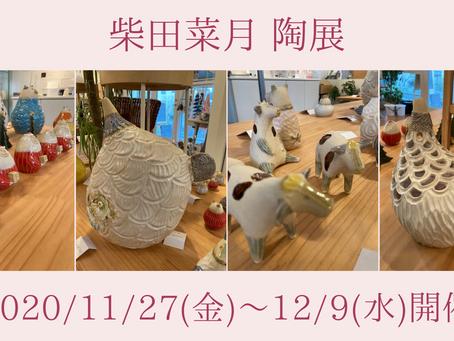 いよいよ開催!柴田菜月 陶展