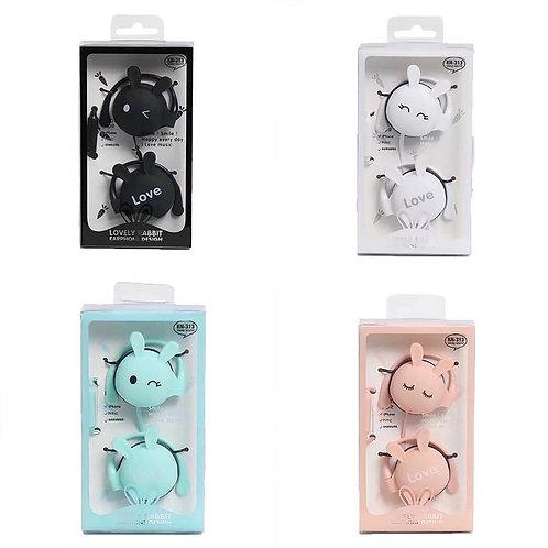 Lovely rabbit earphones
