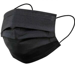 Mascarilla empaque de 50 color negra