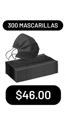 300 mascarillas negras