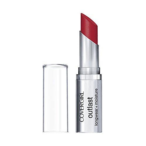 Covergirl Outlast longwear + moisture lispstick red rogue