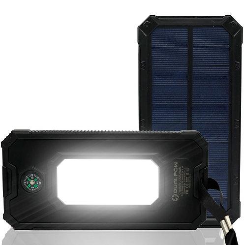 Dualpow power bank solar 20,000 Mah