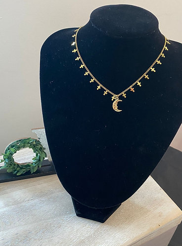 Chokers Moon Cooper Plated
