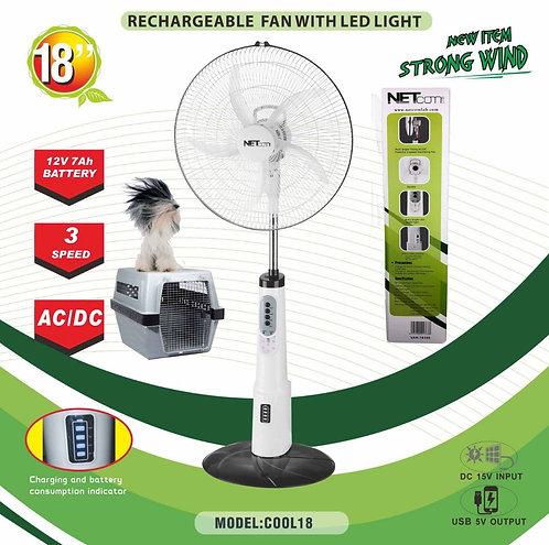 Abanico Solar NETcom disponibles de 16 o 18 Pulgadas