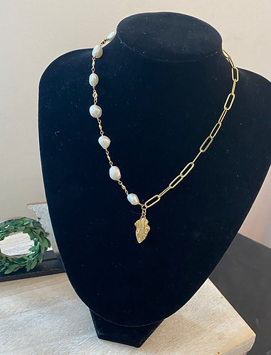 Necklace Pearl Cooper Plated