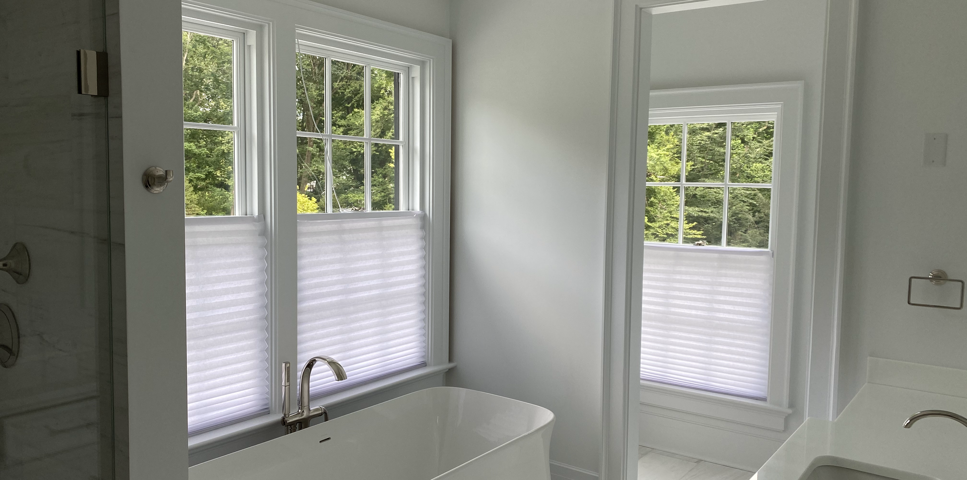 Simple Shades in Wash Room
