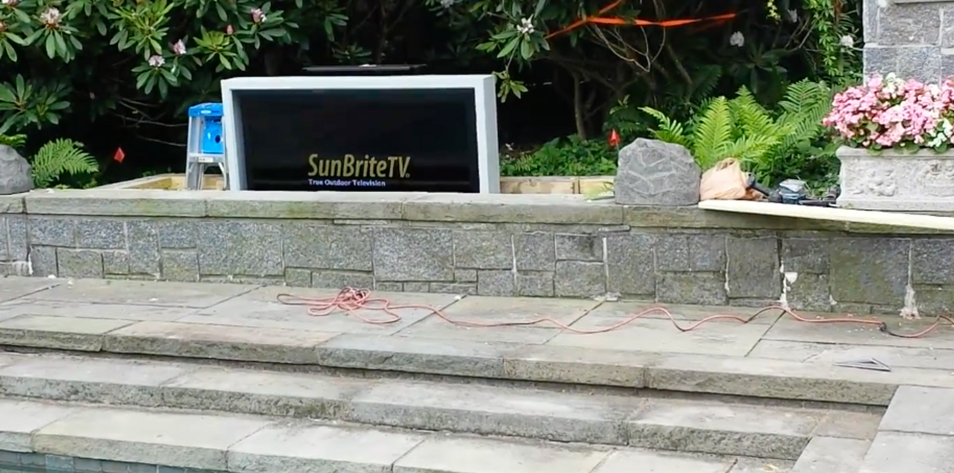 Custom Outdoor TV by the Pool