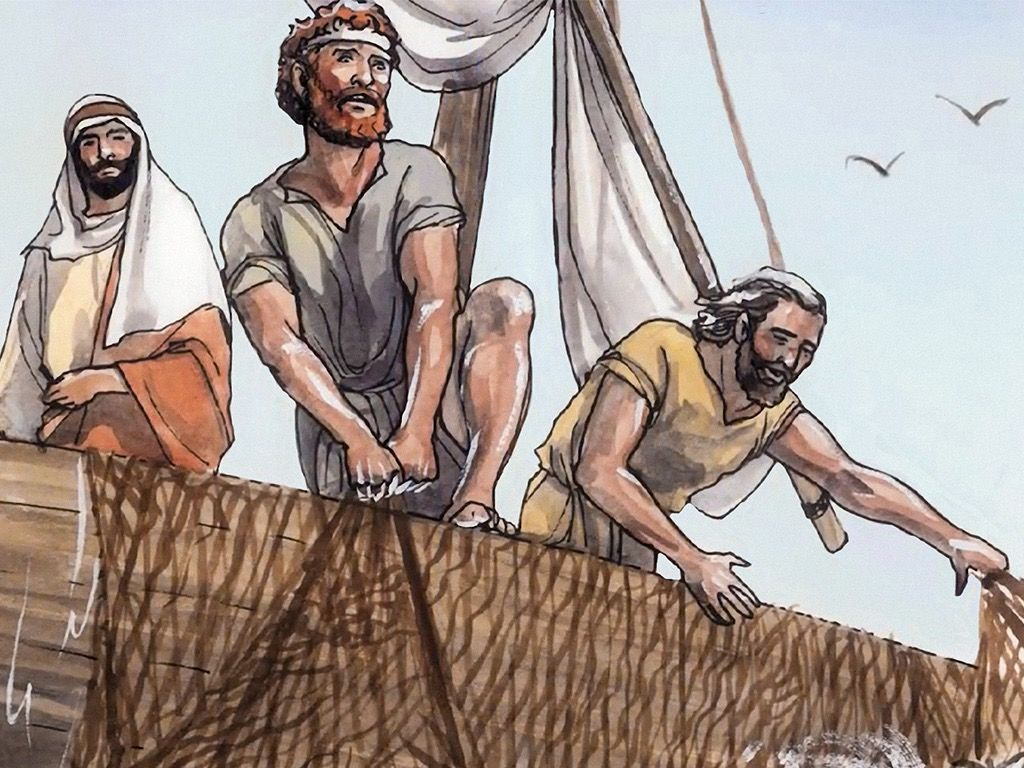 Four Fishermen Obey Christ's Call