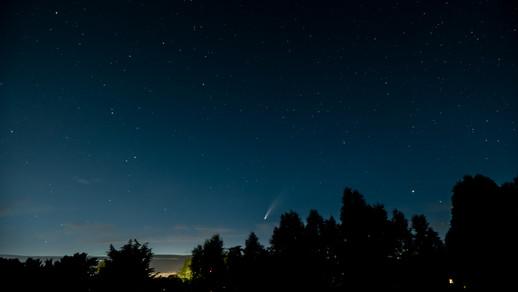 Komeet Neowise, Harlingen - Nederland