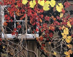 Barn Window - 11x14 inches - Acrylic on