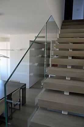 Parapetti in vetro per scalinate