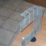 Esempio di articolo in rete metallica realizzato dalla ditta.